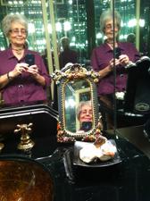 Sheila Finkelstein reflected in 3 mirrors