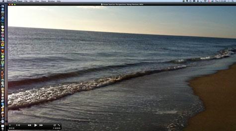 ocean surf video as desk top image