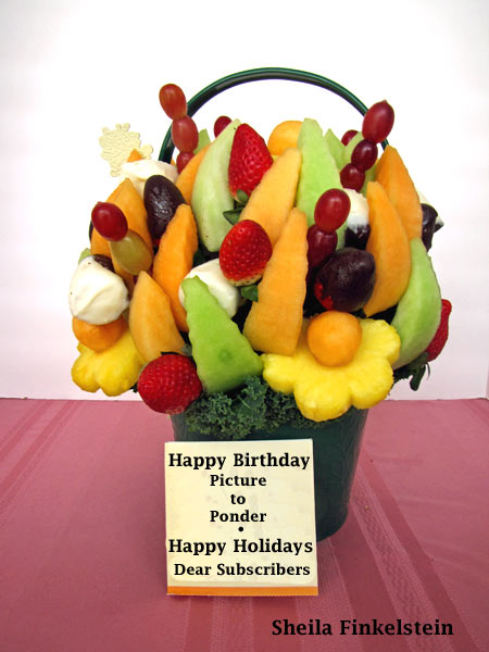 fruit basket from edible arrangements