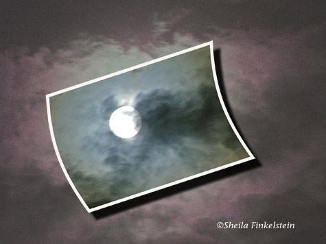 Full moon photo altered