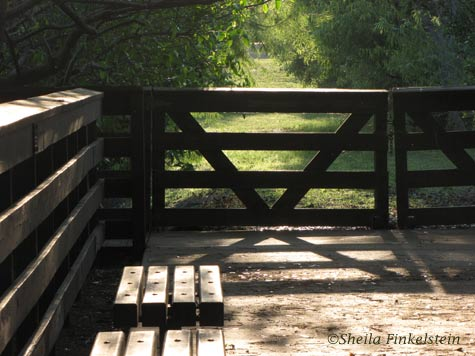 gate at end of path at Green Cay Wetlands