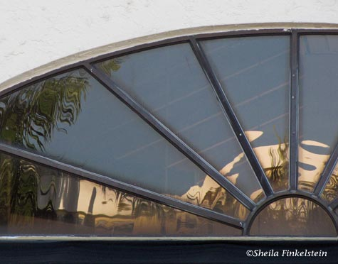 reflections in window in building in Delray Beach #2