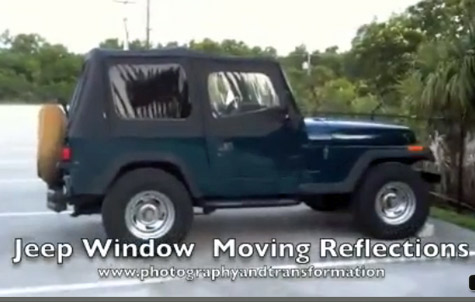 reflections jeepwindow videoshot Creating Movement   Circumstances and Intention   Reflections in Jeep Window   Picture to Ponder   v7 31