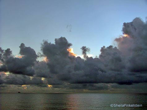 sunrise and clouds on Delray Beach in September