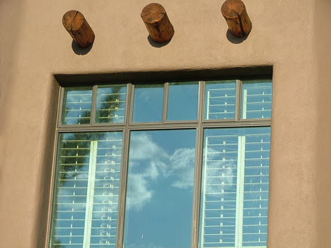 Window reflections in Sedona, AZ