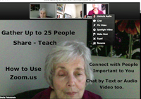 ZOOM for using the internet to connect Seniors with family and friends